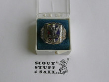 Eagle Scout Ring, 1940's STERLING Silver, Mint Condition, some tarnish but can be polished, Size 9, Can be sized to fit