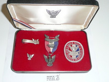 Eagle Scout Presentation Boxed Set, Robbins 4 1955-1969, Sterling Silver