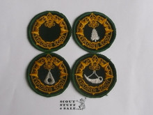 Explorer Scout Set of 4 Ranger Program Rank Patches from the 1950's, Apprentice - Woodsman - Frontiersman - Ranger, all MINT condition
