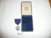 Sea Scout Quartermaster Medal, 1940's, in Original Box, MINT Condition, STERLING Silver