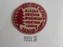 Region Eleven (11) Senior Camps Felt Patch, 1930's or 1940's, one tiny pin hole at top