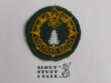 Explorer Scout Ranger Program Rank Patch, Frontiersman, 1950's, Lite Use