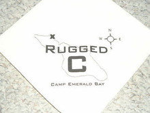 Camp Emerald Bay - Rugged C (Canoe) Neckerchief - Very RARE