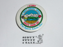 1983 Boy Scout World Jamboree I Attended - The Spirit Lives on Button
