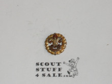 Assistant District Executive / Council Executive Staff Lapel Pin, Tall Crown, Horizontal Spin Lock Clasp, damage to pin attachment