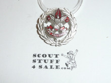 Scout Executive Collar Brass, Tall Crown, Horizontal Spin Lock Clasp