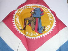 1950 National Jamboree Rayon Neckerchief, lite use