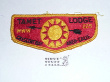 Tamet Order of the Arrow Lodge #225 s2 Flap Patch, used
