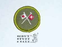 Signaling - Type F - Rolled Edge Twill Merit Badge (1961-1968)