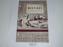 Scoutmaster Training, Meetings Instructor's Guide, 1-53 printing