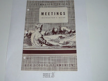 Scoutmaster Training, Meetings Instructor's Guide, 7-49 printing