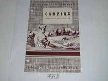 Scoutmaster Training, Camping Instructor's Manual, 5-52 printing