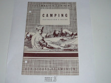 Scoutmaster Training, Camping Instructor's Manual, 7-49 printing