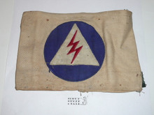 Civil Defense Messenger Armband (Felt center emblem with some mothing) - Used by Scouts during WWII - Used #2