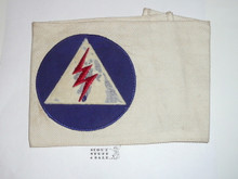 Civil Defense Messenger Armband (Felt center emblem with some mothing) - Used by Scouts during WWII - Used