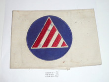 Civil Defense Air Raid Warden Armband (Felt center emblem with some mothing) - Used by Scouts during WWII - Used