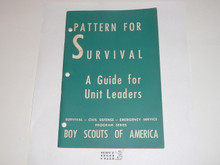 Pattern for Survival A Guide for Unit Leaders, Civil Defense Series by the Boy Scouts of America, 2-51 printing