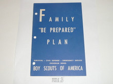 Family Be Prepared Plan, Civil Defense Series by the Boy Scouts of America, 3-51 printing
