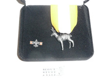 Silver Antelope Award With Lapel Pin, In Presentation Box