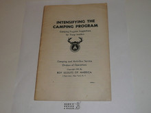 Intensifying the Camping Program, Camping Program Suggestions for Troop Leaders, 6-41 Printing
