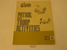 Patrol and Troop Activities Book, 8-74 Printing