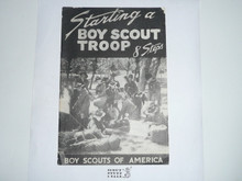 1946 Starting a Boy Scout Troop, 8 Steps, 3-46 Printing