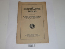 The Scoutmaster Speaks, Churches of Christ in America, covers separated, 1918