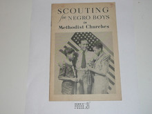 Methodist, Scouting for Negro Boys in Methodist Churches, on newsprint, early 1940's printing