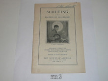 Protestant, Scouting under Protestant Leadership, mid-1920's printing