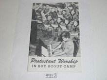 Protestant, Protestant Worship in Boy Scout Camp, 1960's printing