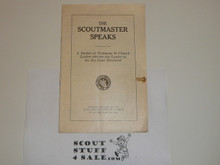 The Scoutmaster Speaks, Churches of Christ in America; 1918