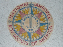 "Center portion for a 1937 National Jamboree Flag, 23"" Diameter"