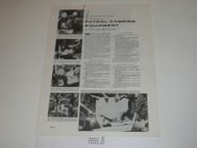 Topic Reprint, Patrol Camping Equipment Boys' Life Single Topic Reprint #BL-4