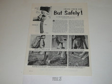Topic Reprint, Swing Your Axe But Safely Boys' Life Single Topic Reprint #BL-12