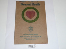 Personal Health Merit Badge Pamphlet , 1926 Printing