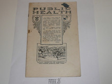 Public Health Merit Badge Pamphlet, 1925 Printing