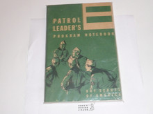 1960 Patrol Leader's Program Notebook, MINT Condition