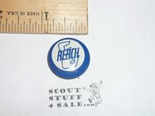 Explorer Scout Reach Metal  Boy Scout Button