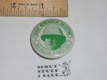 William D. Boyce Scout Memorabilia Collector Celluloid Boy Scout Button