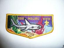 RARE Malibu O.A. Lodge #566 (like s20) Service Flap Patch - Scout