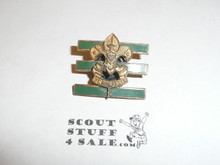 Junior Assistant Scoutmaster Hat Pin, Squatty Crown, Post with spin lock