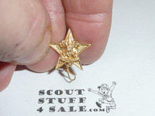 Star Scout Rank Lapel/Mother's Pin, Vertical Spin Lock Back, 15mm wide, wire Knot