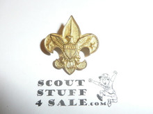 Tenderfoot Scout Rank Pin (Could be used as Generic Scouting Collar Pin), bent wire Clasp, 20mm Wide, Be Prepared & BS of A & Pat. 1911 back markings