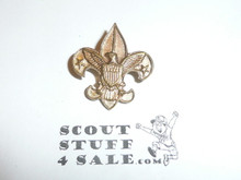 Tenderfoot Scout Rank Pin (Could be used as Generic Scouting Collar Pin), Safety Pin Clasp, 20mm Wide, Be Prepared & BS of A & Pat. 1911 back markings, notched Back