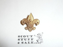 Tenderfoot Scout Rank Pin (Could be used as Generic Scouting Collar Pin), Spin Lock Clasp with square notch in bar, 21mm Wide, Pat. 1911 back markings in high detail