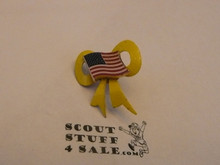 Yellow Ribbon and USA Flag Boy Scout Pin, Desert Storm