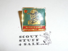 Enameled Baden Powell Summer Camp Award Pin