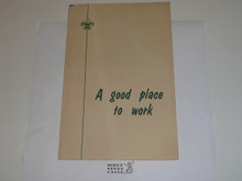 "1970's ""A Good Place to Work"" National Office Recruiting Brochure"