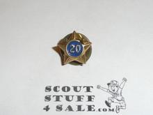 Boy Scout 20 Year Pin, Post Back