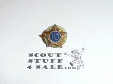 Boy Scout 10 Year Pin, Post Back